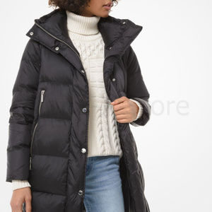 NWT Michael Kors Quilted Nylon Puffer Coat